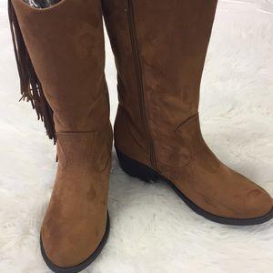 Rue 21 etc short cowboy boots with side fringe 7.5